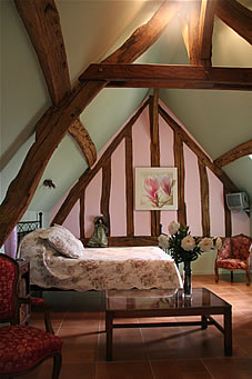 one of our rooms la printaniere from the charming bed & breakfast la gentilhommiere de normandie near to the garden and house of claude monet in giverny in eure (27) in upper-normandy in france